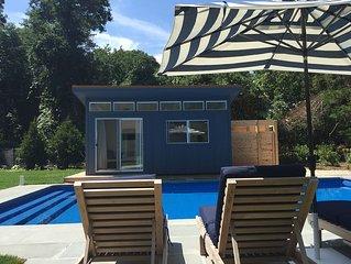 Perfect Hamptons Beach Retreat   Saltwater Pool - Walk to Private Beach