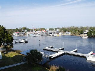 WATERFRONT, RIVERS EDGE CONDO #2D-Bldg 2 *PRIVATE DOCK and ASSIGNED BOAT SLIP!