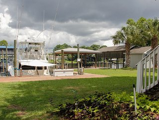 Waterfront, Large Boat Slip .5 Mile From White Sandy Beach | Incl. Fishing Dock