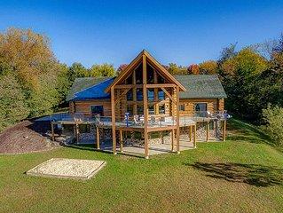 Log Home Lodge On Bluff Overlooking Mississippi River 115 Acres Estate