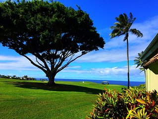 Ocean & Mountain Views 3BR/3BA on Golf Course & walk to beach