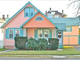One Block to the Beach Year-Round Rental Cape May Cottage with optional Loft apt