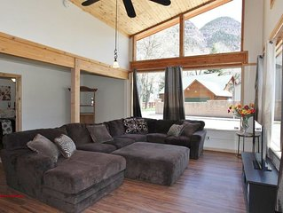 Sunny home with mountain views a short walk from downtown Ouray