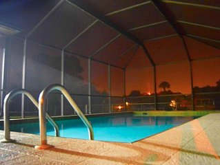 Waterfront Home With Heated Pool (Disinfectant Used Kills 99.9%  Germs&Bacteria)