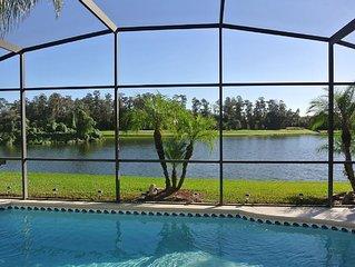 6 BR Luxury Lakeside Villa, Pool, Hot Tub, Games Room, 10 Mins Disney, Secured