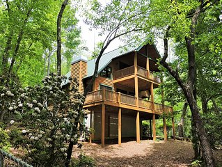 TF Luxury Dog-friendly Chalets W/Large Fenced Yard, Hot Tub on deck, Fireplace,