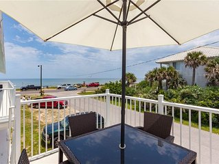 Flagler Beach Sandy Toes C, 2nd Floor Ocean Front, 1 Bedroom, Sleeps 4