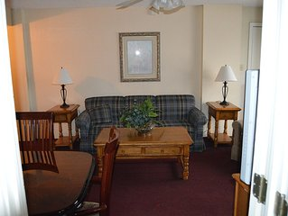Economy minded 2 BR Slope Side Condo at Silver Creek, ski in/out