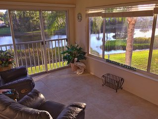 Plantation Golf and Country Club:  2 Bedroom + Office with Lake View + Garage