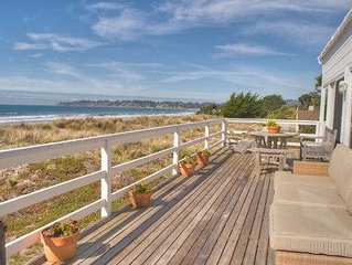 One of the most beautifully situated homes in Stinson Beach.