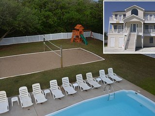 #1801 King BEEch. Pool, Hot Tub, Volleyball, Pets OK/Fenced Yard, Ocean Views