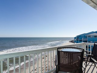 Recently updated oceanfront condo with breathtaking view and pool access