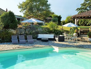 Charming Country Cottage With Large Heated Pool In Monbazillac, Nr Bergerac