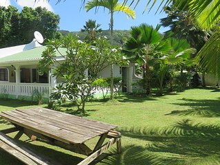 Mahe, Anse a La Mouche: Maison avec jardin,   2 chambres,2 salles de bains, wifi