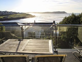 A beautiful 4 bed detached home offering stunning views over Polzeath Beach