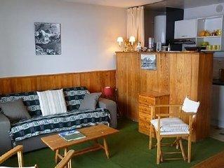 Grand appartement de 60 m2 + grand balcon - 3 pieces, situe a 5 min des pistes