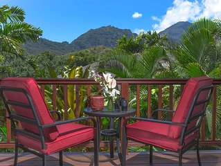 Hanalei Waterfalls, Mountain Views, with A/C!