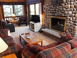 A Spacious Trailside Vacation Home with Large Stone Fireplace, Indoor Hot Tub An