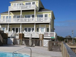 Oceanfront 5 BR Townhouse - Pool, Private Hot Tub, and Beach!