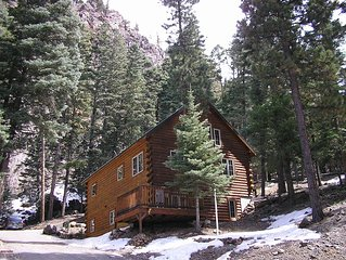 Spacious and Cozy, Wooded Mountain Log Home in Ouray