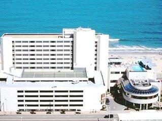 == Aug 8-15 == Direct Beachfront on Boardwalk Facing Atlantic Ocean == Top Floor