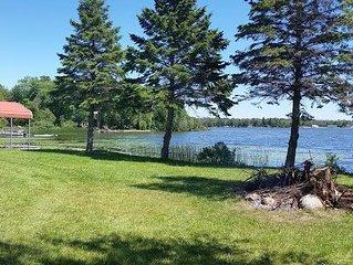Summer dates open! Just remodeled-Brevort Lakefront Cottage- Sleeps 12
