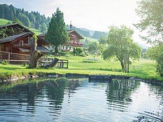 Bauernhof,Kleintiere,Garten,Spielplatz,Teich,inklusive Schwimmbad, Ski Amade