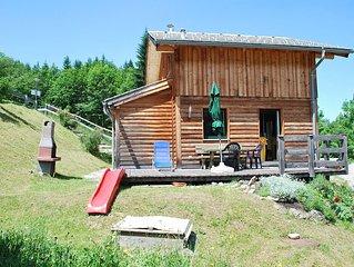 Gemutliches Blockhaus in idyllischer Aussichtslage mitten im Wander- / Skigebiet