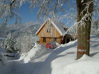 Einzigartiges 4 Sterne-Ferienhaus in ruhiger sonniger Lage auf 1050 m Seehöhe