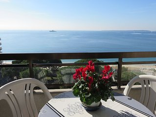 CENTER BAY-Splendide et  Vaste F1, vue panoramique mer, plages aux pieds,parking