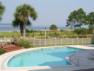 Fantastic Sea Pines Views of the Pool & Calibogue Sound!  FREE TENNIS!