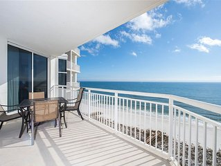 REDUCED!! Last week OCT-Spacious BEACHFRONT condo Perdido Key; Double Master!