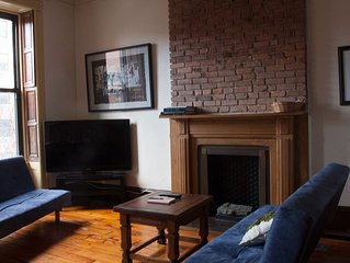 Central Harlem: Private charming 2 bedroom penthouse