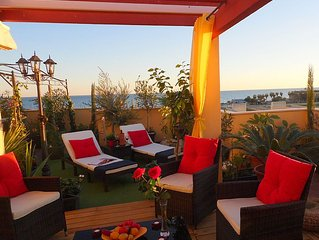 Dream Penthouse, 70 square meter sun terrace, fant. Sea views, 5 minutes' z. Be