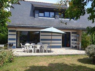 Grande Villa 5 Chambres, Plage à 100 M., Jardin Arboré et Clos