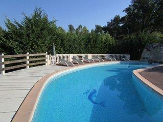 Derniere semaine: 19/08 - 26/08. Villa luxueuse, piscine chauffee de 17 m