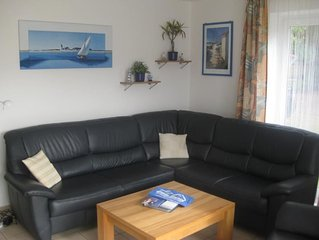 The high-quality furnished 3-bedroom apartment in a quiet location is only abou