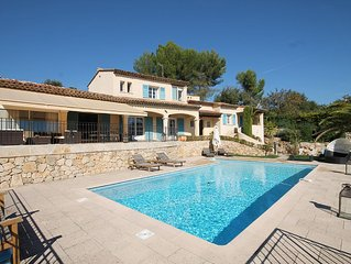 Mas Provençal Avec Piscine Vue Mer (Promo-Bateau En Option - Juillet Uniquement