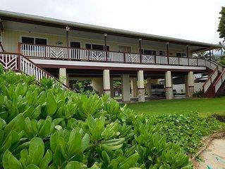 Sandy Beachfront House Combo – 2 units, sleeps  12, has AC, large lawn