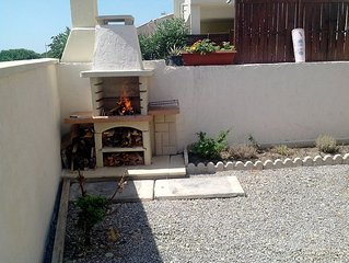 House quiet 70 m2. 2 c. 2 bathrooms. 2 gardens enclosed balcony sea view