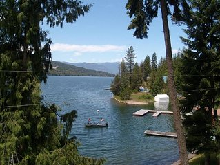 IDAHO DREAM, GREAT LAKE HOME {dock, privacy,family & pets } * 10% off Canadian