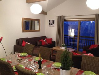 Superb duplex apartment on the slopes of the ski resort of Valmorel