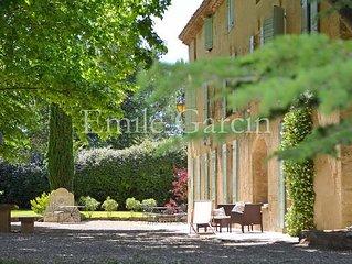 Location de charme au coeur de la Provence - Piscine chauffée - Tennis