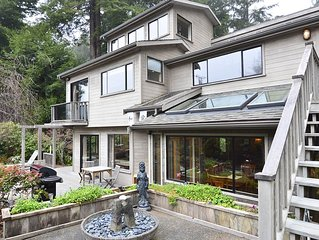 Moonstone House-Spacious & Redwoods, Ponds, Waterfalls & Beach Nearby