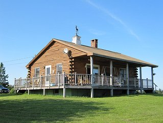 Waterfront Log Home With Superb Views Of Acadia Area Mountains And Bays