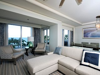 Ocean Front 2 Bedroom Luxury Suite at the Ritz-carlton in Key Biscayne