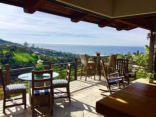Exclusive Ocean/Canyon View 'Ohana' Dog Friendly Eco-Home.