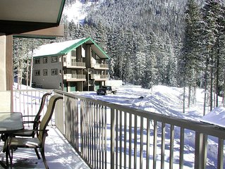 Wheeler Peak 106 -Upscale  condo. Light and bright, 2/10 of a mile to lift