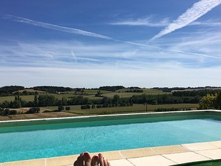 Farmhouse gite & private pool, sleeps 10, great for families, south west France