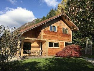 Eco-villa- Bout du lac d'Annecy limite Talloires (vue lac & montagne 180o)